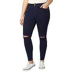 Evans - Indigo ripped skinny jeans
