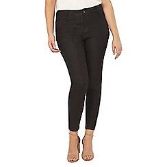 Evans - Black glitter skinny jeans