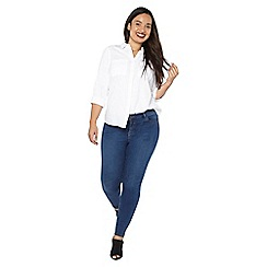 Evans - Regular mid rise skinny jeans