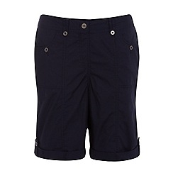 Evans - Navy blue poplin shorts