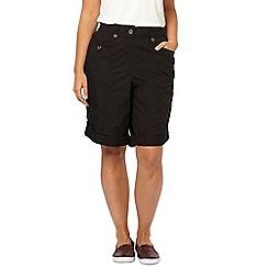 Evans - Black poplin shorts