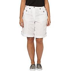 Evans - White poplin shorts