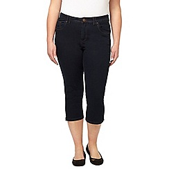 Evans - Indigo denim crop jeans