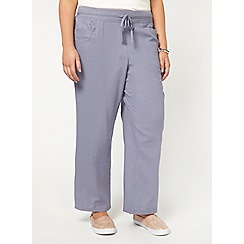 Evans - Lilac purple linen blend trouser