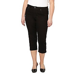 Evans - Black denim crop jeans