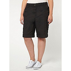 Evans - Black cotton shorts