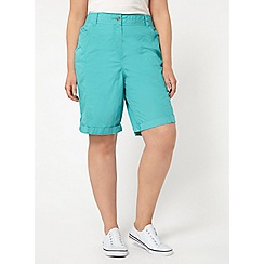Evans - Teal blue cotton shorts