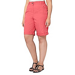 Evans - Pink cotton shorts