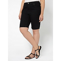 Evans - Black denim shorts