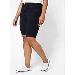 Evans - Indigo blue denim shorts