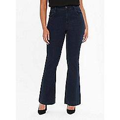 Evans - Petite indigo blue bootcut jeans
