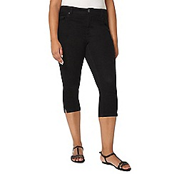Evans - Black denim cropped trousers