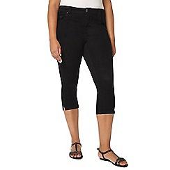 Evans - Black denim cropped trousers