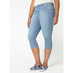 Evans - Lightwash pear fit cropped jeans