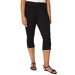 Evans - Black pear fit cropped jeans