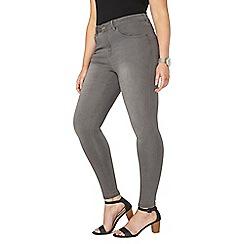 Evans - Grey skinny jeans