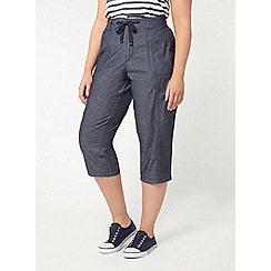 Evans - Chambray cropped trousers