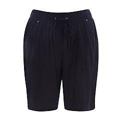 Evans - Navy linen shorts
