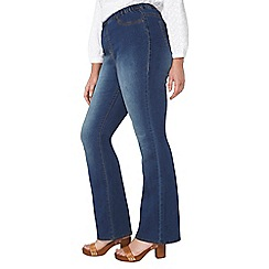 Evans - Midwash bootcut jeggings