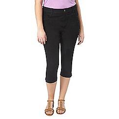 Evans - Black/midwash denim crop 2pack jeans