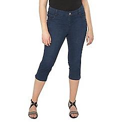 Evans - Indigo denim cropped jeans