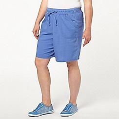Evans - Blue linen shorts