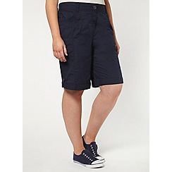 Evans - 2 pack black and navy cotton shorts