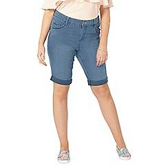 Evans - Blue midwash denim shorts