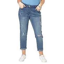 Evans - Blue doodle boyfriend jeans