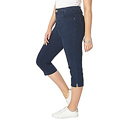 Evans - Indigo denim cropped jeans