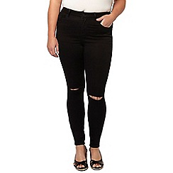 Evans - Black ripped knee skinny jean