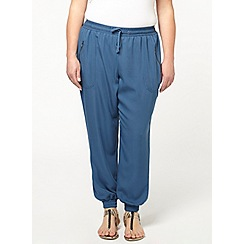 Evans - Teal mesh panel soft trousers