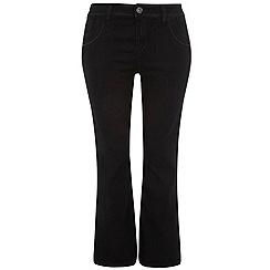 Evans - Black basic bootcut jeans