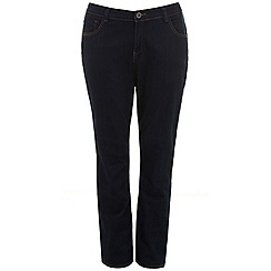 Evans - Indigo pear fit straight jeans