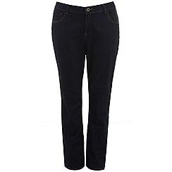 Evans - Indigo pear fit straight jeans