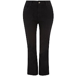 Evans - Black pear fit straight jeans