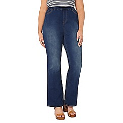 Evans - Midwash pear fit bootcut jeggings