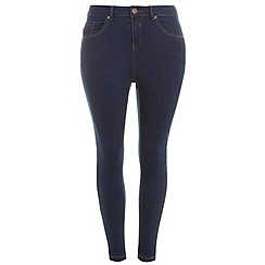 Evans - Indigo pear fit ultrastretch skinny jeans