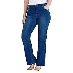 Evans - Midwash bootcut jeans