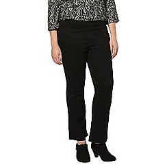 Evans - Pear black bootcut jeggings