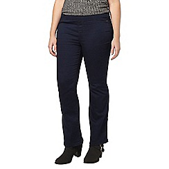 Evans - Pear indigo bootcut jeggings
