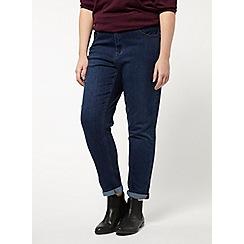 Evans - Indigo stitch boyfriend jeans