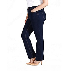 Evans - Indigo basic straight jeans