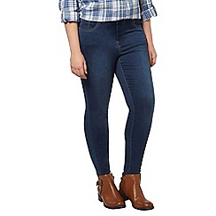 Evans - Midwash pear ultra stretch skinny jeans