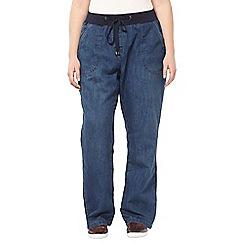 Evans - Pear denim slouch jeans