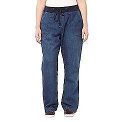 Evans - Denim slouch jeans