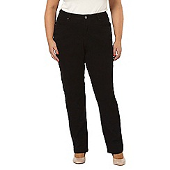 Evans - Black pear fit straight leg jeans
