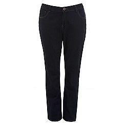 Evans - Pear indigo straight jeans