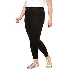 Evans - Black denim skinny pear fit jeans