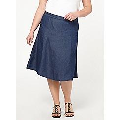 Evans - Chambray midi skirt
